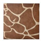 Giraffes! exotic animal print design! tiles