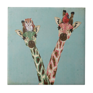 GIRAFFES & FEATHERS Tile