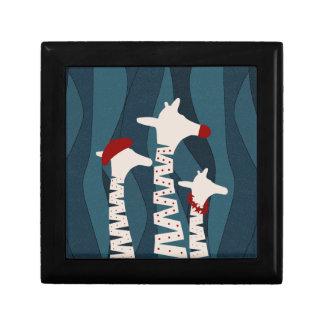 Giraffes Holiday Season Design Trinket Box