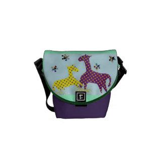 Giraffes in Dots Messenger Bag
