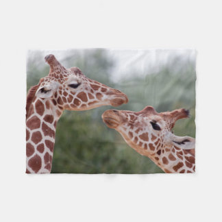 Giraffes in Love Fleece Blanket