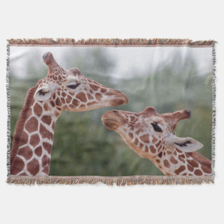 Giraffes in Love Throw Blanket