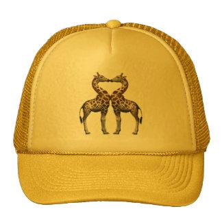 Giraffes In Love Trucker Hat