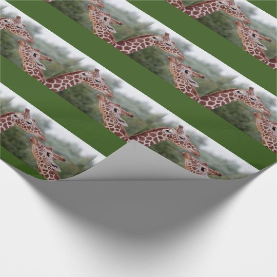 Giraffes in Love Wrapping Paper