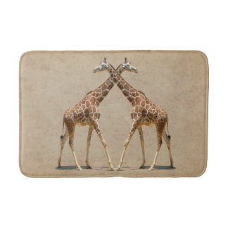 GIRAFFES IN PASSING BATH MAT
