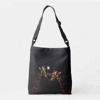 Giraffes_In The Moonlight._Cross_Full_Print_Bag Crossbody Bag