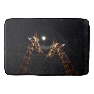 Giraffes_In_The-Moonlight,_Lg_Memory_Foam_Bath_Mat Bathroom Mat