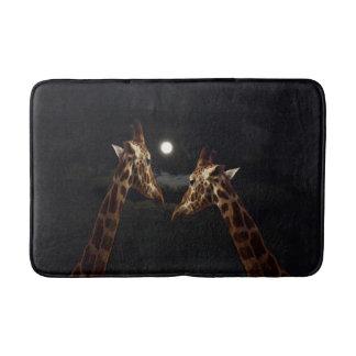 Giraffes_In_The-Moonlight,_Memory_Foam_Bath_Mat Bathroom Mat