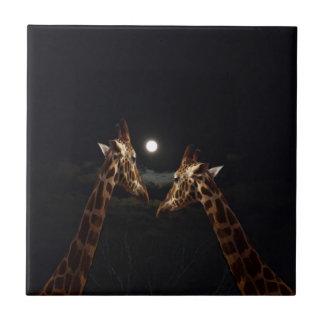 Giraffes_In The Moonlight. Tiles