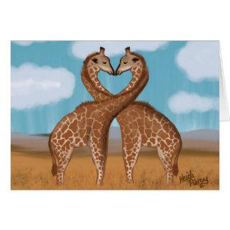 Giraffes Love Cards -Blank