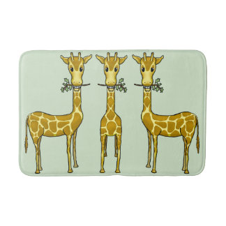 Giraffes Medium Bath Mat