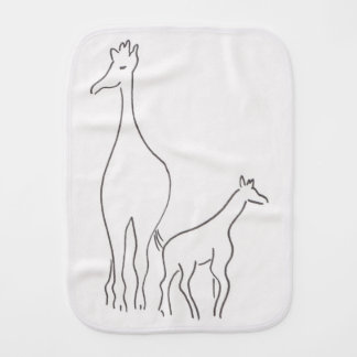 Giraffes - Mommy and Baby - Burp Cloth