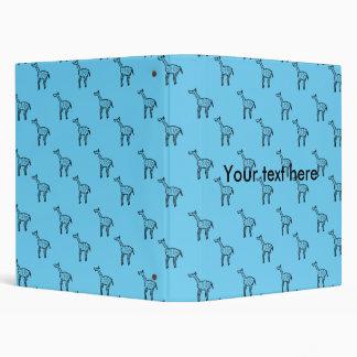 Giraffes on blue pattern binders