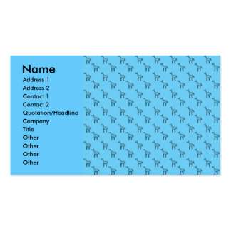 Giraffes on blue pattern business card template