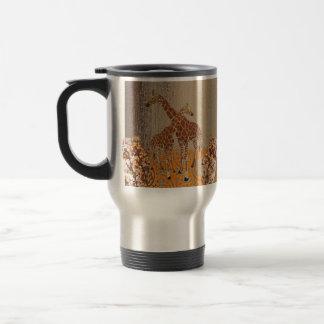 Giraffes Orange Blossom  Travel Mug