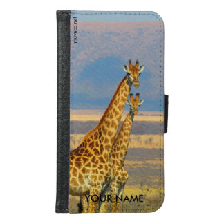 Giraffes Samsung Galaxy S6 Wallet Case