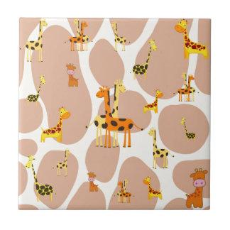 Giraffes Tile