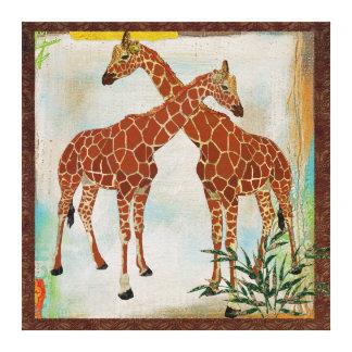 Giraffes Tropical Canvas Canvas Prints