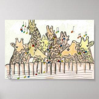 girafs singing poster