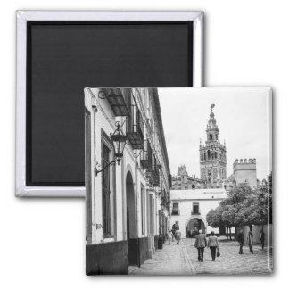 Giralda: Seville Square Magnet