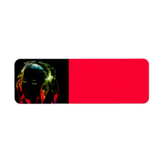 girl-140571 girl headphones music treble clef sou return address label