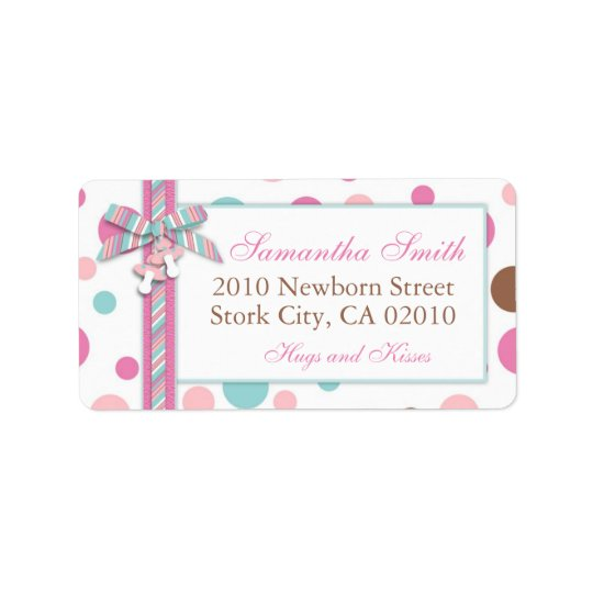 Girl Address Label FP