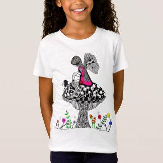 Girl and a Bird T-shirt (You can Customize)
