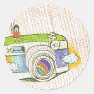 Girl And Camera Sticker