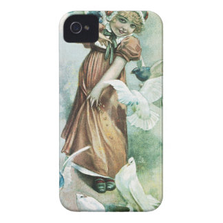 GIRL AND DOVES iPhone 4 Case-Mate CASE