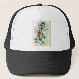 GIRL AND DOVES TRUCKER HAT
