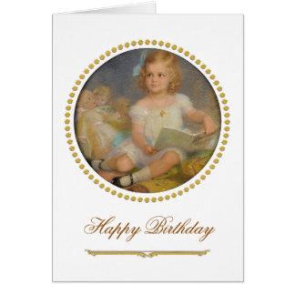 Girl and her dolls Paul Beckert 1911 birthday Card
