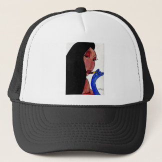 Girl and Lipstick Trucker Hat