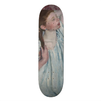 Girl Arranging Her Hair by Mary Cassatt Skate Deck