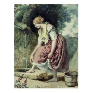 Girl at a Conduit Postcard