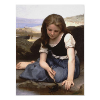 Girl at the Seashore Poster