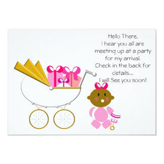 Girl_Baby Carriage (1) Invitation- Gift Boxes Card