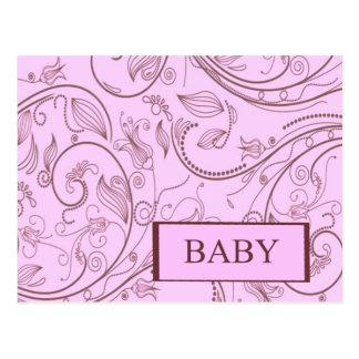 Girl Baby Paisley Print Postcard