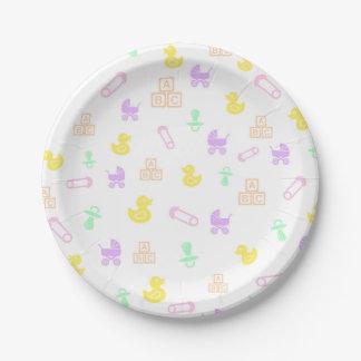 Girl Baby Shower Paper Plate