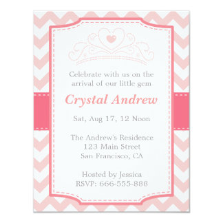 Girl Baby Shower - Pink Baby Princess and Tiara Card
