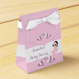 Girl Baby Shower Pink Polka Dots Cute Baby Favor Favor Box