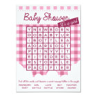 girl baby shower puzzle card