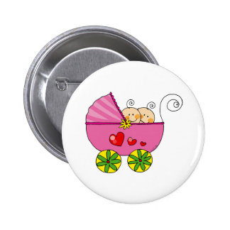 Girl baby twins 2 inch round button
