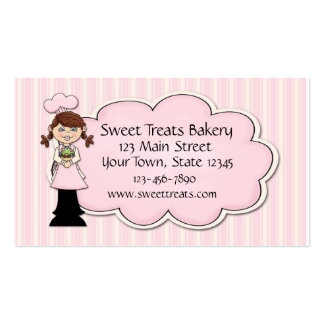 Girl Baker, Cupcake, Pink Business Card Template