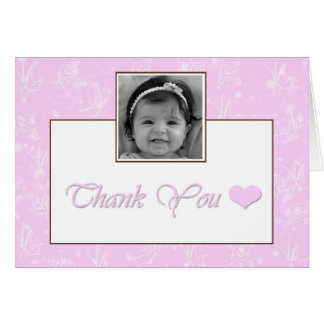 Girl Baptism / Christening Thank you Card