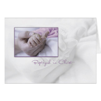 Girl Baptism Congratulations Card for Baby