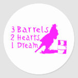 GIRL BARREL RACING CLASSIC ROUND STICKER