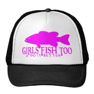 GIRL BASS FISHING CAP TRUCKER HAT