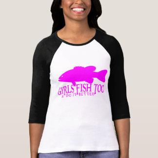 GIRL BASS FISHING T SHIRT