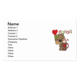 Girl Bear Cocoa Love Business Card