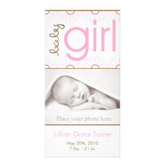 Girl Birth Announcement - Photo Card